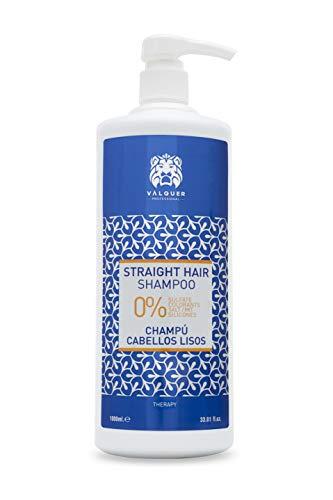 Valquer Profesional Champú Zero Cabellos Lisos. Sin: sal, sulfatos, siliconas, parabenos. 0% volumen. Champú premium. 0% volumen. Con pantenol - 1000 ml
