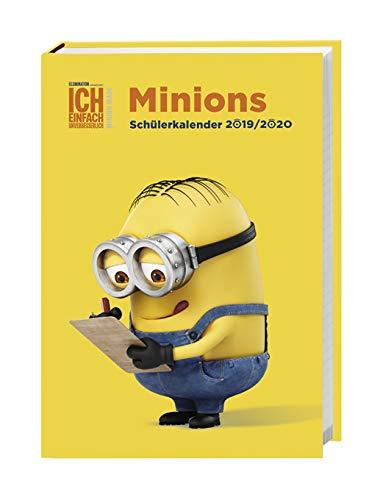Minions Kalenderbuch A5 - Schülerkalender 2020 - Heye-Verlag - 17-Monats-Kalender - Stundenpläne, Schulferien und Notenübersicht - 15,2 cm x 21,5 cm