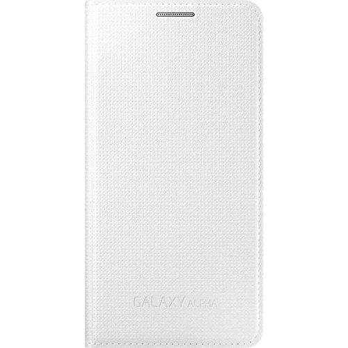 Samsung EF-FG850BWEGWW Flip Cover per Galaxy Alpha, Bianco
