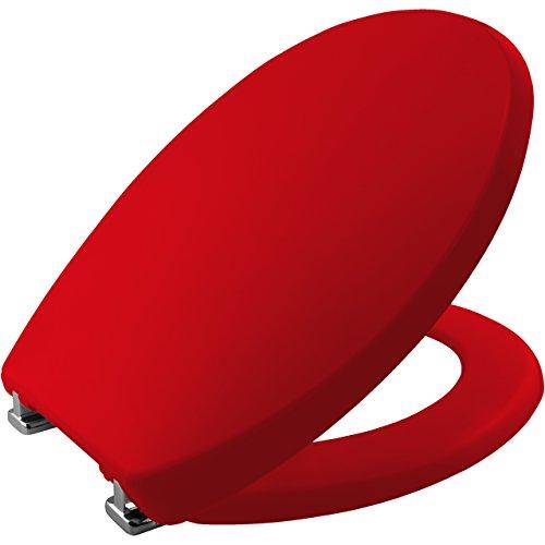 Bemis 2850cpt153Buxton Stay Tight TPU Sitz thermoplastisch, mit verchromten Scharnieren, Chicago rot