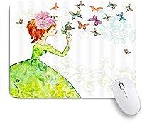マウスパッド 個性的 おしゃれ 柔軟 かわいい ゴム製裏面 ゲーミングマウスパッド PC ノートパソコン オフィス用 デスクマット 滑り止め 耐久性が良い おもしろいパターン (白い花とバラの蝶)