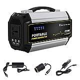 SWTY Mobiler Energiespeicher Tragbarer wiederaufladbarer Generator mit 520 Wh / 140400 mAh und stummgeschalteter 110-V-Wechselstromsteckdose/USB-C-Steckdose/USB / 12-V-Auto-Steckdose für schnelles La
