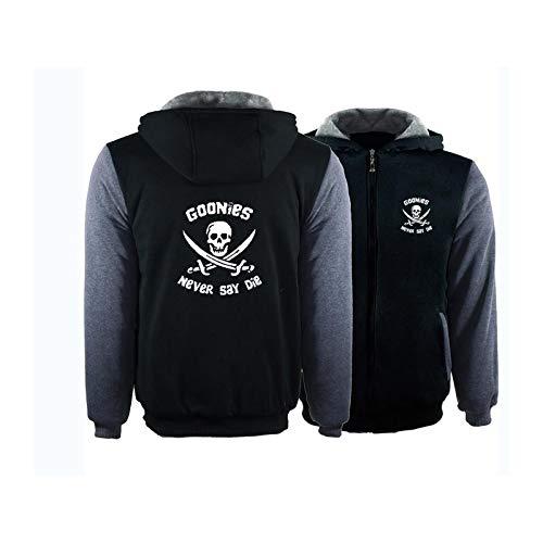 Kapuzenjacke Herren Fashion Plus Fleece Dicker Kapuzenpullover Strickjacke Jacke Baseball Uniform,H-M