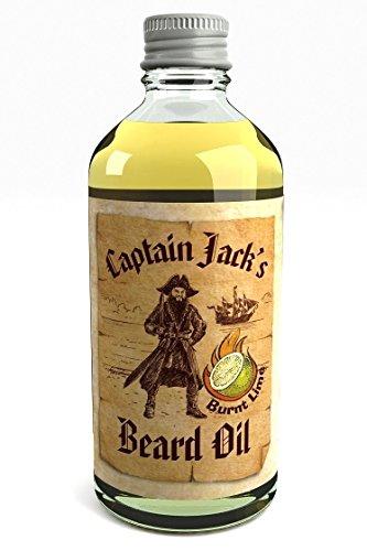 Captain Jack's Beard Oil Huile Revitalisante Pour Barbe du Pirate Captain Jack 100ml Parfum de Chaux en Édition Limitée (Burnt Lime)