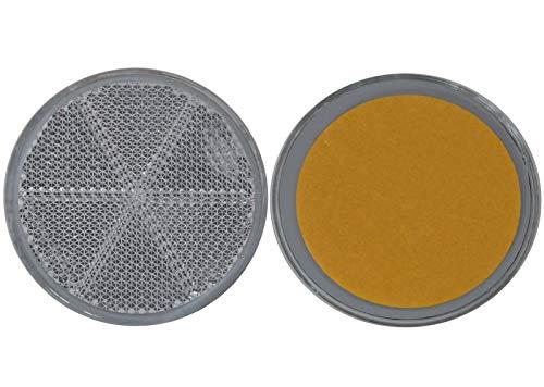 FKAnhängerteile 20 x Arrière Spot – Réflecteur – à Coller – Ø 60 mm – Blanc – E de Marque de Contrôle