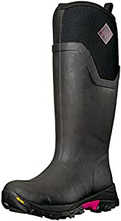 Muck Boot womens Women's Arctic Ice Tall Work Boot, Black/Hot Pink, 10 US