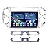 YIJIAREN Radio GPS Navegación para V-W TIG-UAN 2010-2018 Pantalla táctil IPS Android 10.0 Coche Estéreo Sat Nav Soporte de Control del Volante BT Mirror-Link 4G WiFi con cámara de visión Trasera