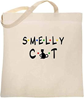 Smelly Cat Funny Retro 90s Large Canvas Tote Bag Women