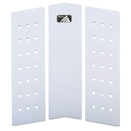 AQUBONA 3 Piece Stomp Pad Surfboard EVA Traction Pad with 3M Adhesive Professional Tail Pad/Applies All Boards - Surfboards, Shortboards, Longboards, Skimboards/Multiple Color Choices