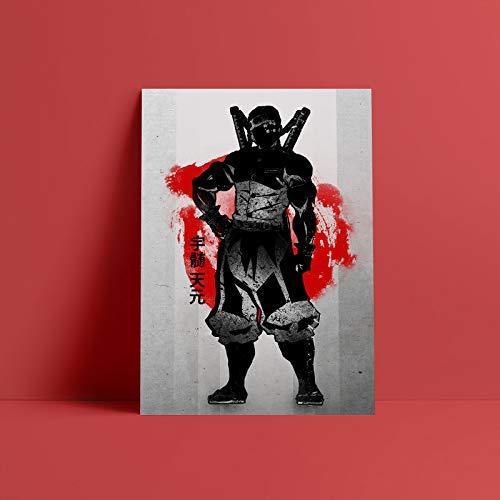 Póster de Uzui Tengen Demon Slayer, lienzo artístico para pared, impresiones decorativas para niños, habitación, hogar, dormitorio, pintura-Pintura de Diamante 5D de bricolaje-Regalo de Navidad