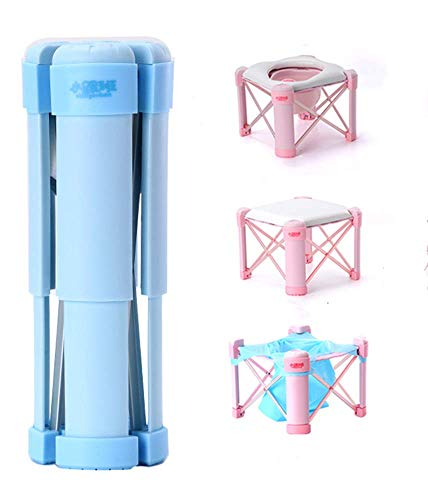 3-in-1 Potty Training Toilet,Travel Potty Seat for Kids Boys Girls Toddlers,Don't Worry About not Having a Toilet (Blue)