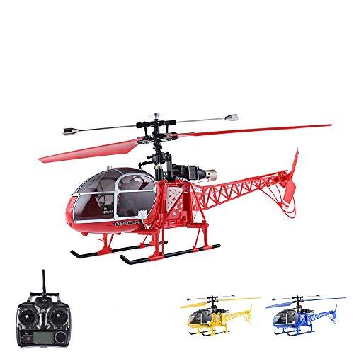 4.5 Kanal RC ferngesteuerter XL Single-Blade Hubschrauber, Helikopter mit Gyro-Technik, 2.4GHz-Fernsteuerung, Akku, Ladegerät und Ersatrotorblätter-Set
