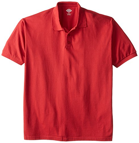 Dickies Herren Poloshirt, kurzärmelig, Piqué-Stil - Rot - XX-Large