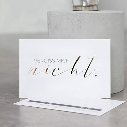 Terminkarten (100er Set) mit exklusiver Goldprägung für Nagelstudio, Kosmetik, Nageldesigner, Nageldesign, Maniküre, Pediküre (Terminkarte)