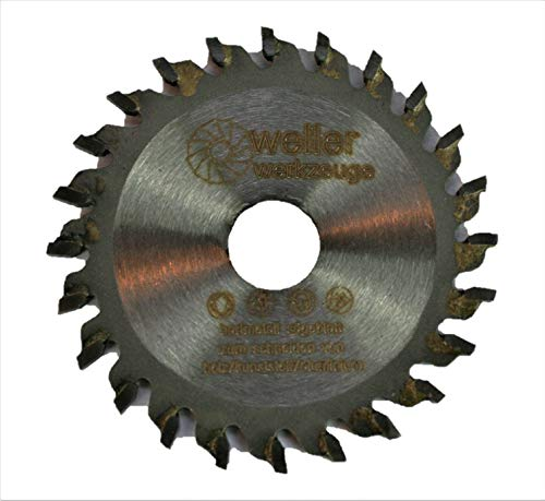Proxxon - Hoja de sierra circular (50 x 10 mm, para madera, plástico, aluminio, compatible con amoladora angular de cuello largo, batería