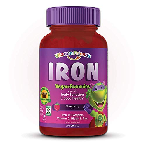 Vitamin Friends Iron Multivitamin for Kids - Organic & Vegan...