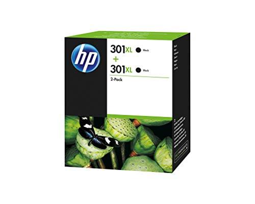 HP Confezione da 2 cartucce di inchiostro nero originali ad alta capacità 301XL