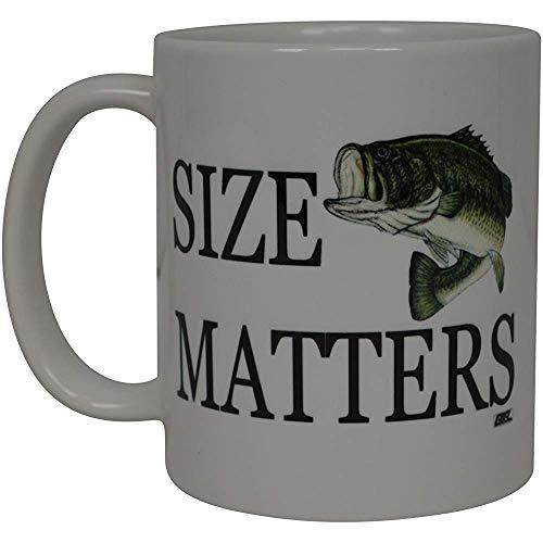 Vis-koffie-haver grootte is belangrijk vis-nieuwigheid mok geweldig cadeau idee voor mannen hem papa opa Fischer
