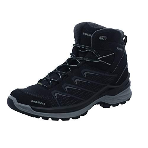 Lowa FERROX PRO GTX MID Unisex Wanderstiefel Trekkingschuh Outdoor Goretex 310651 Schwarz, Schuhgröße:43.5 EU