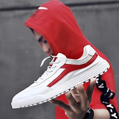 LOVDRAM Chaussures en Cuir pour Hommes Chaussures De Sport pour Hommes Mode Chaussures Blanches Sauvages