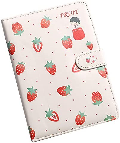 Kennedy Leather Cute Cartoon Strawberry Color Pages Notebook Diary Travel Journal Snap Closure product image