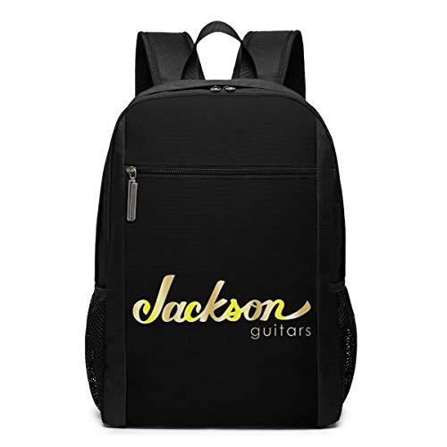 BGKO Unisex Jackson Gitarren Gold Logo Rucksack Business Computer Wasserfeste Rucksack Tasche Fit 17 Zoll Laptop