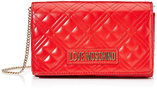 Love Moschino Borsa Quilted Nappa PU, Donna, Rosso, Normale