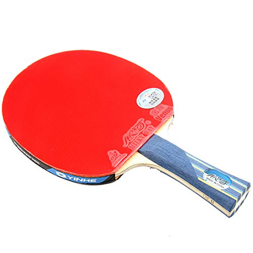Lowest Prices! 5 Layers of Pure Wood + 2 Layers of Carbon Wood Ping Pong Racket, Offensive Ping Pong...