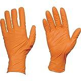 TRUSCO(トラスコ) 使い捨て ニトリル 手袋 S オレンジ 粉なし 0.10 100枚入り TG ワーク TGNN10OS TG S 0.10