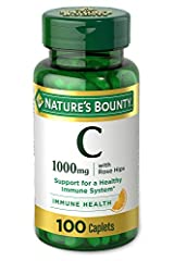 Immune support: 100-count, 1000 milligram Vitamin C + Rose Hips Caplets for immune support. Vitamin C is one of the leading nutritional vitamins for immune support. People reach for Vitamin C plus Rose Hips by Nature's Bounty to help them maintain a ...