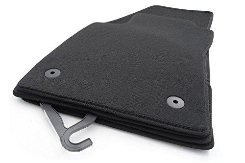kh Teile Fußmatten/Velours Automatten Original Qualität Stoffmatten 4-teilig schwarz