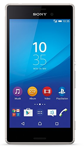 Sony Xperia M4 Aqua Smartphone (5 Zoll (12,7 cm) Touch-Display, 8 GB Speicher, Android 5.0) silber