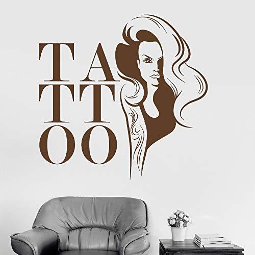 zhuziji Lassen Sie Wandaufkleber , Tattoo Frau Mädchen Nordic Schlafzimmer, Campus, Kindergarten Mit Vinyl Pvc86x84cm