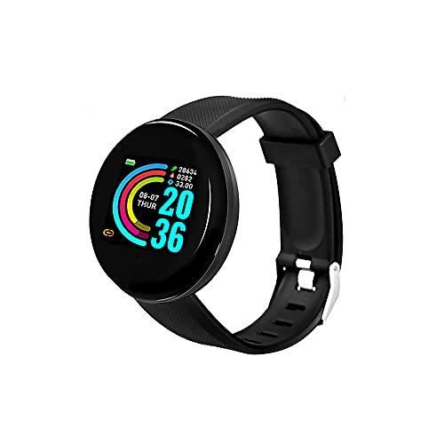 Fesjoy D18 da 1,3 pollici HD touchscreen a colori intelligente braccialetto pedometro/frequenza cardiaca/pressione sanguigna/promemoria notifiche Smartwatch nero