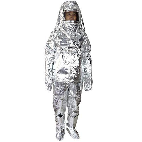 XIONGG Abbigliamento di Protezione, Sicurezza sul Lavoro di Isolamento Abbigliamento Anti-Radiazioni Scottatura con Cappuccio,M