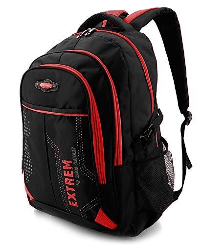 Rucksack Damen & Herren Daypack für Alltag, Arbeit, Reisen & Schule - Wasserabweisend (Rot)