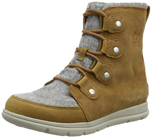 Sorel - Women's Explorer Joan Waterproof Insulated Winter Boot, Camel Brown, 8 M US