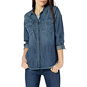 Amazon Brand – Goodthreads Women's Denim Long-Sleeve Western Shirt