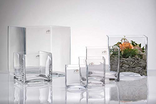 Vase Würfel eckig 14 x 14 cm