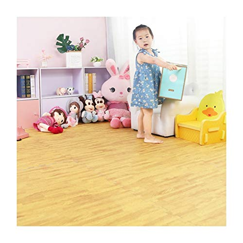 Buy Interlocking EVA Foam Mats Wood Effect Soft Gym Home Exercise Kids Play Baby Crawling Workout Ma...