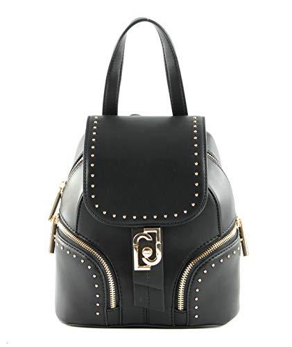 Zaino Liu-Jo backpack S con pattina in ecopelle nero donna B21LJ34
