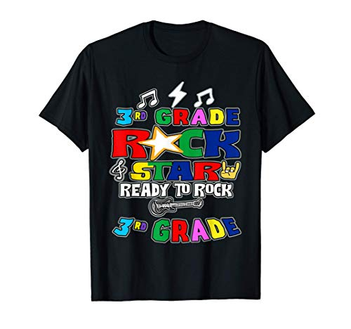 Ready To Rock Third Grade Rockstar Back To School Teacher T-Shirt