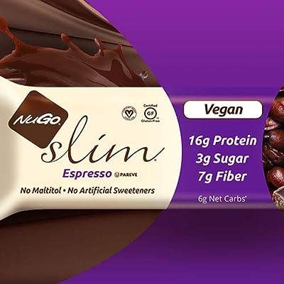 NuGo Nutrition - Slim Dark Chocolate Bar Espresso