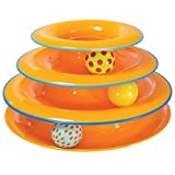 Petstages Tower of Tracks Cat Toy – 3 Levels of Interactive Play – Circle Track with Moving Balls Satisfies Kitty's Hunting, Chasing & Exercising Needs
