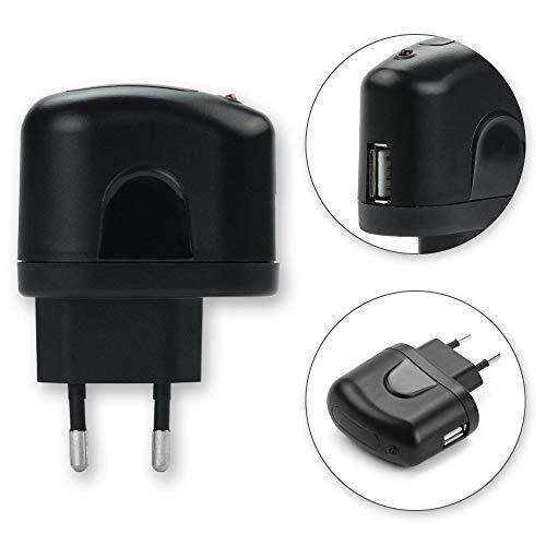 subtel® USB Ladegerät für Panasonic Lumix DC-G9 DMC-TZ101 TZ41 TZ40 DMC-SZ10 DMC-LX15 DMC-LF1 mit 5W - 5A Schnellladegerät USB Netzteil Ladeadapter SteckdoseNetzstecker USB Charger Ladestecker