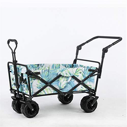 Feixunfan Carro plegable para jardín, playa, compras, camping, jardín, carro, carro, utilidad, para exteriores, para jardinería, camping (color verde, tamaño: talla única)