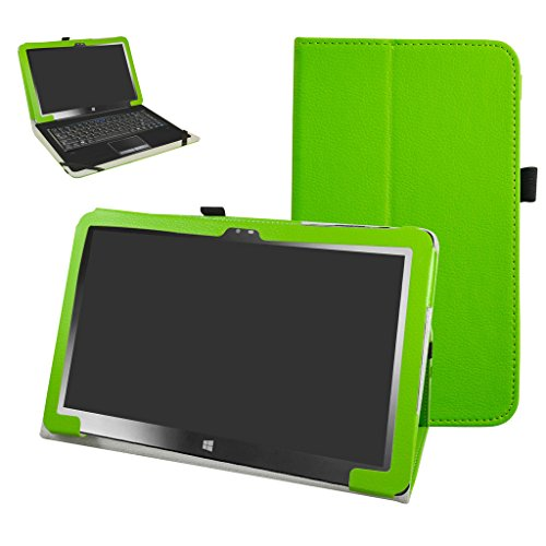 """Insignia 11.6 NS-P11W7100 / NS-P11A8100 Case,Mama Mouth PU Leather Folio Stand Cover for 11.6"""" Insignia 11.6 NS-P11W7100 / NS-P11A8100 11.6 Inch Windows 10 Tablet PC,Green"""