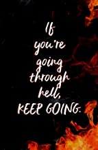 If You're Going Through Hell, Keep Going.: Blank Journal and Winston Churchill Quote