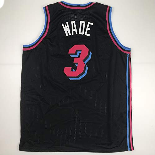 Unsigned Dwyane Wade Miami Black City Vice Custom Stitched Basketball Jersey Size Men's XL New No Brands/Logos