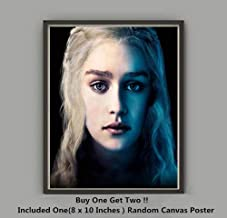 QG Art Queen of The Dragon Daenerys Moive Silk Cloth Wall Art Prints Poster,Not Included Frame